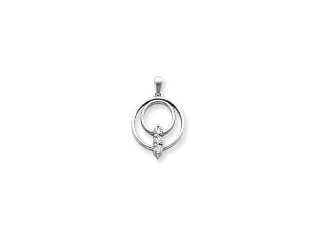 14k White Gold .51ct Diamond Pendant Mounting