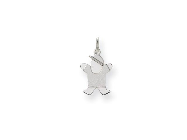 14k White Gold Mini Boy Charm