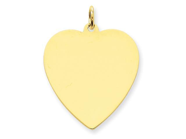 14k Plain .035 Gauge Engraveable Heart Disc Charm