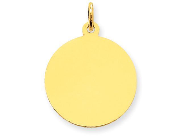 14k Plain .035 Gauge Circular Engraveable Disc Charm