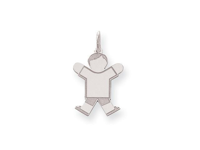 Sterling Silver Kid Charm