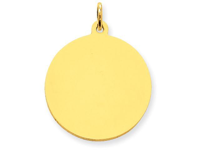 14k Plain .018 Gauge Circular Engraveable Disc Charm