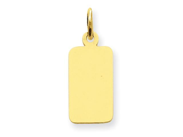 14k Plain .013 Gauge Engraveable Rectangular Disc Charm