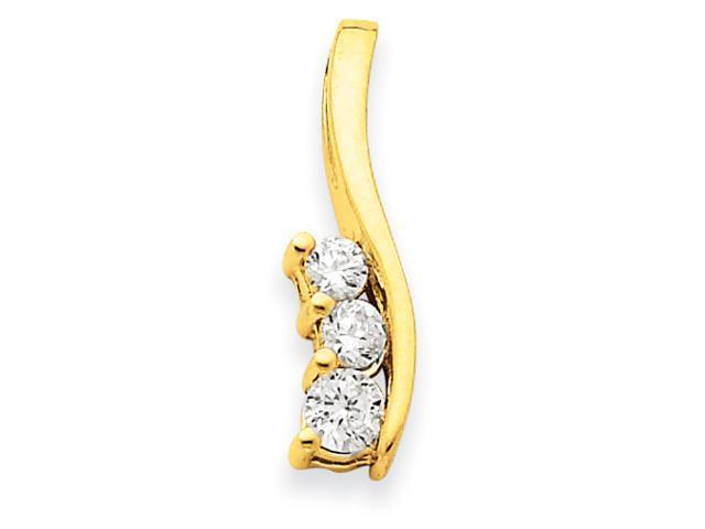 14k  3-Stone .41ct Diamond Pendant Mounting