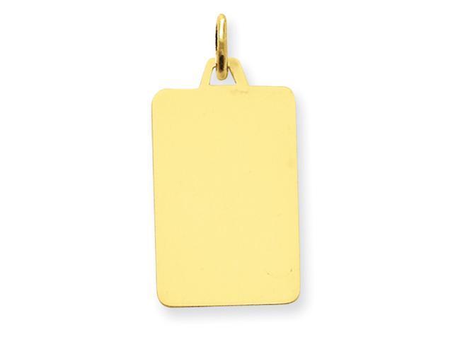 14k Plain .011 Gauge Engraveable Rectangular Disc Charm