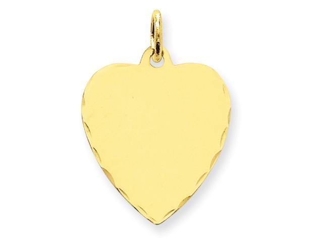 14k Etched .018 Gauge Engraveable Heart Disc Charm