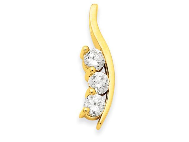 14k A Diamond pendant Diamond quality A (I2 clarity, I-J color)