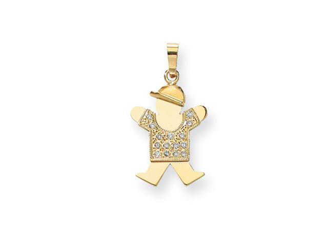 14k AA Diamond kid pendant Diamond quality AA (I1 clarity, G-I color)