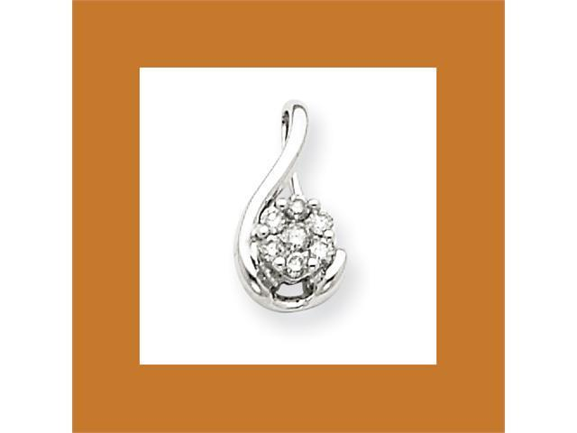 14k White Gold Diamond Pendant Diamond quality AA (I1 clarity, G-I color)