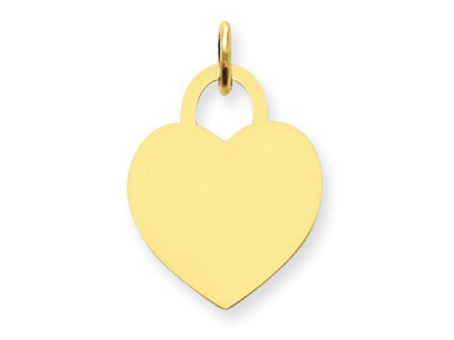14k Medium Engraveable Heart Charm