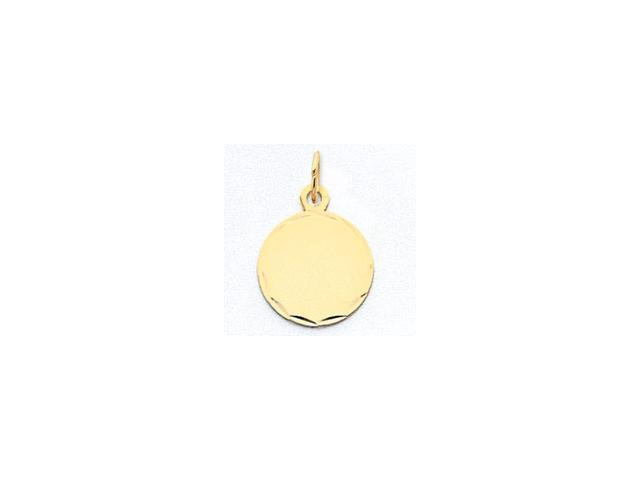 14k Etched .013 Gauge Engraveable Round Disc Charm