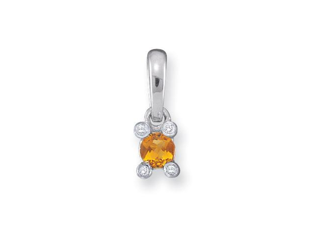14KW Family Jewelry Diamond Semi-Set Pendant