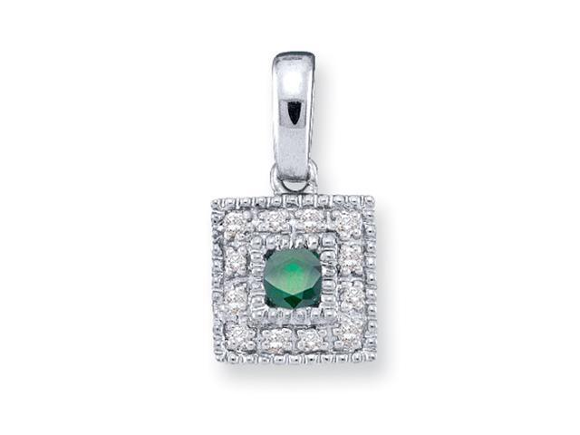 14KW Family Jewelry Diamond Semi-Set Pendant