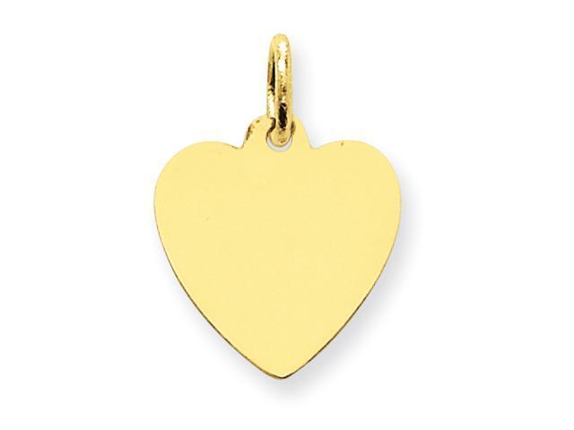 14k Plain .013 Gauge Engraveable Heart Disc Charm