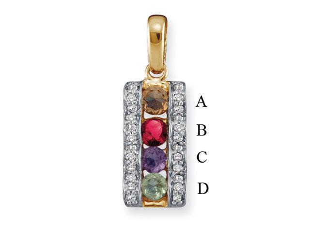 14KY Family Jewelry Diamond Semi-Set Pendant
