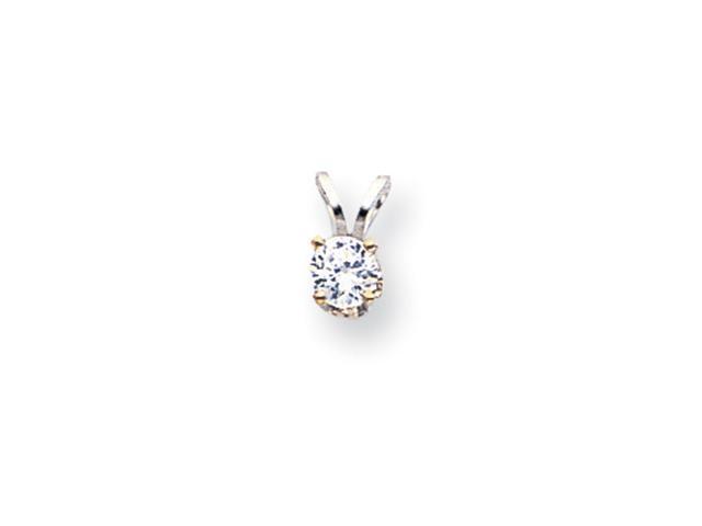 14k White Gold AA Diamond pendant Diamond quality AA (I1 clarity, G-I color)