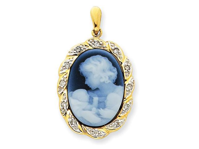 14k New Arrival Twins Agate Cameo