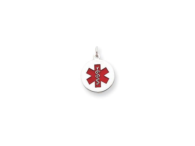 Sterling Silver Medical Jewelry Pendant