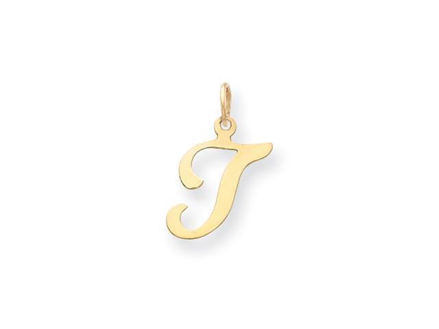 14ky Die Struck Initial T Charm