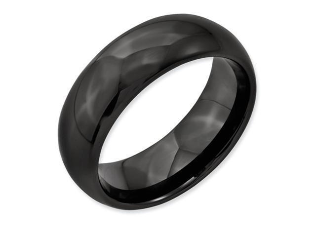 Black Ceramic 8mm Polished Band