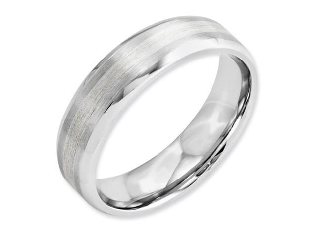 Cobalt Chromium Sterling Silver Inlay Satin/Polish 6mm Band