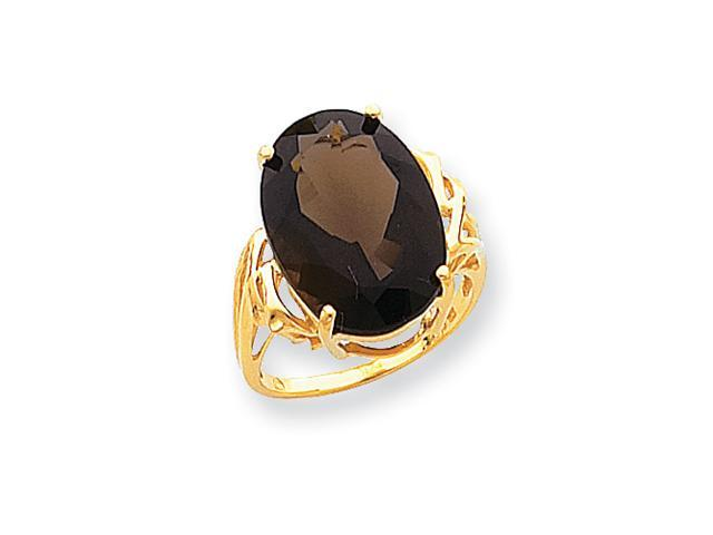 10k Smokey Quartz Ring
