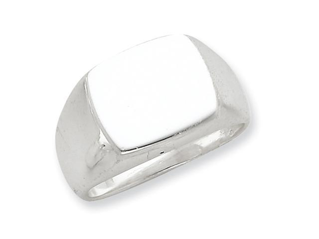 Sterling Silver 13x15mm Solid Back Signet Ring