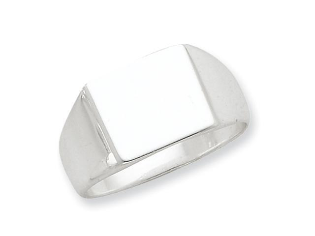 Stelring Silver 11x13mm Solid Back Signet Ring