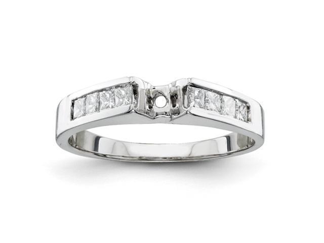 14k White Gold Peg Set Diamond Engagement Ring Mounting