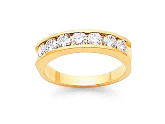 14k Tapered Milled Partial Open 8-Stone Channel Band Mounting