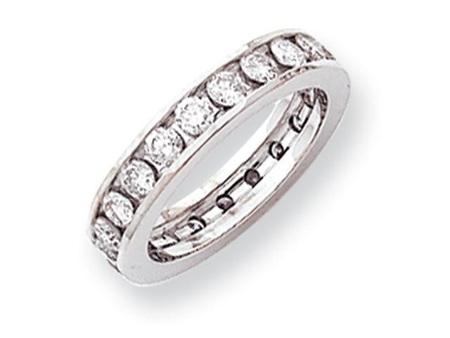 14k White Gold 4mm Wide  Eternity Band Mounting
