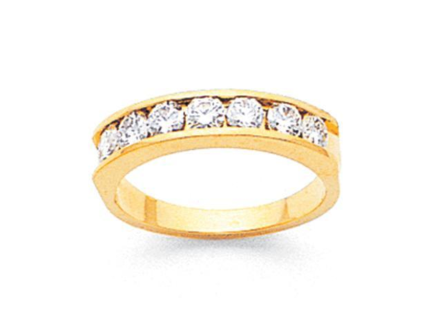 14k AA Diamond channel band Diamond quality AA (I1 clarity, G-I color)