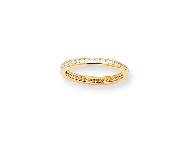 14k 2.25mm Wide  Eternity Band Mounting