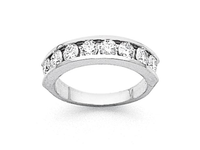 14k White Gold AA Diamond channel band Diamond quality AA (I1 clarity, G-I color)