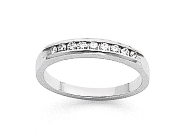 14k White Gold Tapered Milled 9-Stone Channel Band Mounting
