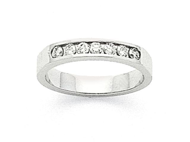14k White Gold Milled Partial Closed 7-Stone Channel Band Mounting