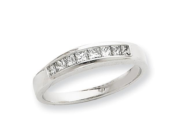 14k White Gold AA Diamond wedding band Diamond quality AA (I1 clarity, G-I color)