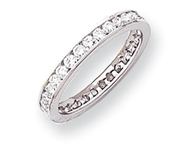 14k White Gold 2.8mm Wide  Eternity Band Mounting