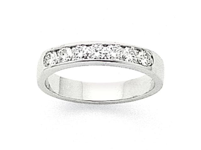 14k White Gold AA Diamond channel band Diamond quality AA (I1 clarity, G-I color)