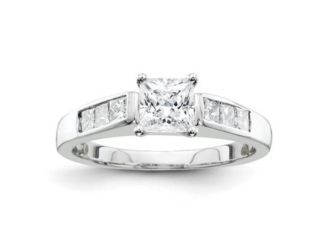14k White Gold AA Diamond engagement ring Diamond quality AA (I1 clarity, G-I color)