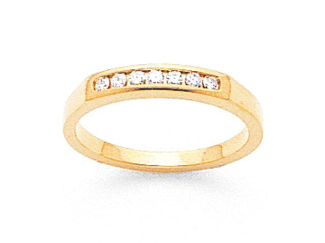 14k Tapered Milled Partial Closed 7-Stone Channel Band Mounting