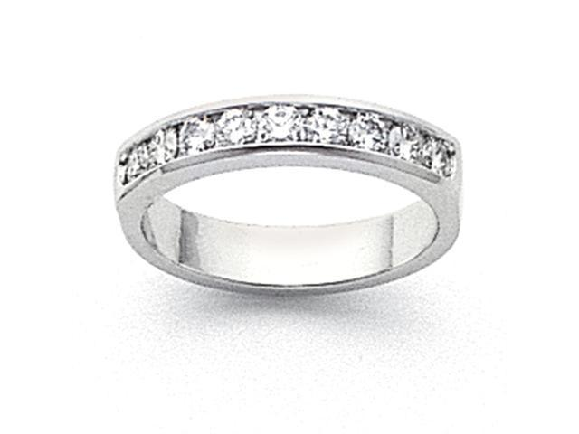 14k White Gold Milled Partial Closed 9-Stone Channel Band Mounting