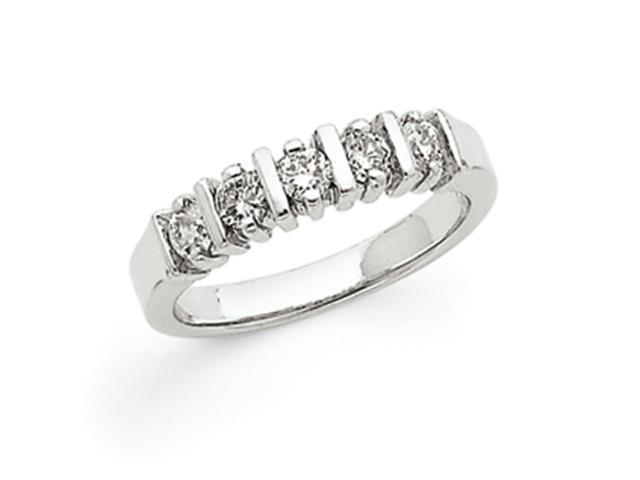 14k White Gold AA Diamond 5-Stone Ring Diamond quality AA (I1 clarity, G-I color)