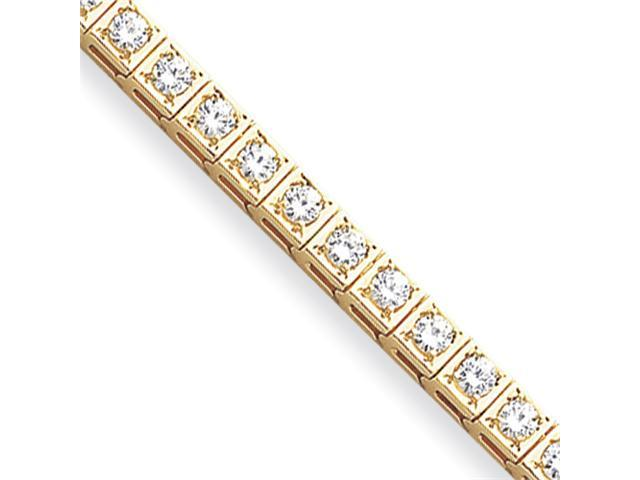 14k 3.4mm Diamond Tennis Bracelet Mounting