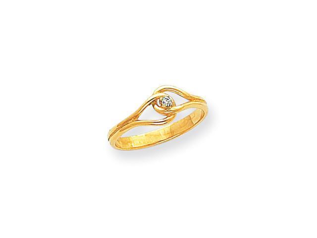 14k Polished AA Diamond Ring Diamond quality AA (I1 clarity, G-I color)