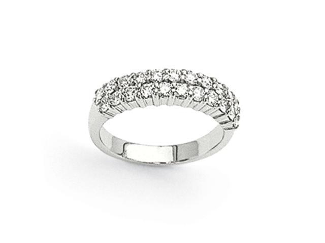 14k White Gold 22-Stone Anniversary Band Mounting