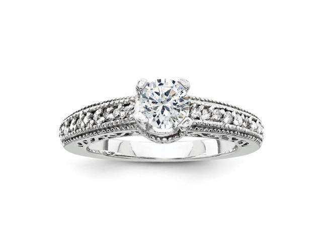 14k White Gold AA Diamond engagement ring Diamond quality AA (I1 clarity, G-I color)