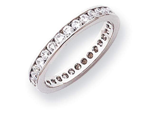 Platinum 2.8mm Wide  Eternity Band Mounting