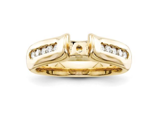 14k Peg Set Diamond Engagement Ring Mounting
