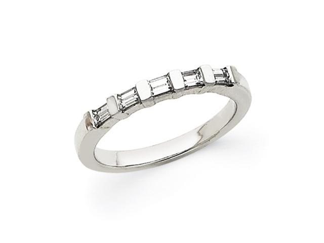 14k White Gold Baguette Anniversary Band Mounting